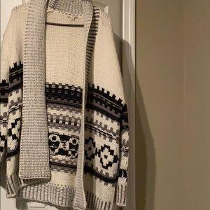 Wool/alpaca cardigan